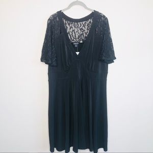 NWT Torrid Black Lace Sleeve Dress
